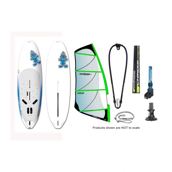 Starboard Rio Large Long Tail and Carbon 60% Power Glide by Ezzy Windsurfing Package